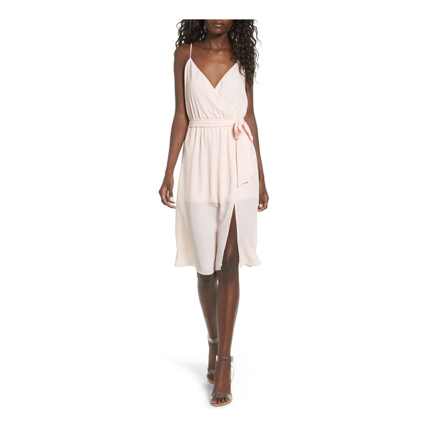 LEITH surplice tie waist dress - A wrap-skirt overlay makes this romper an effortlessly...