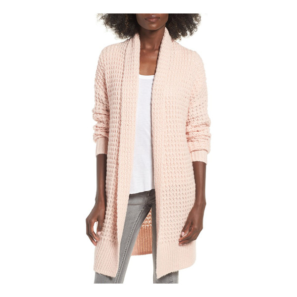 LEITH waffle knit cardigan - Warm, chunky and totally cozy. This waffle-knit top layer...