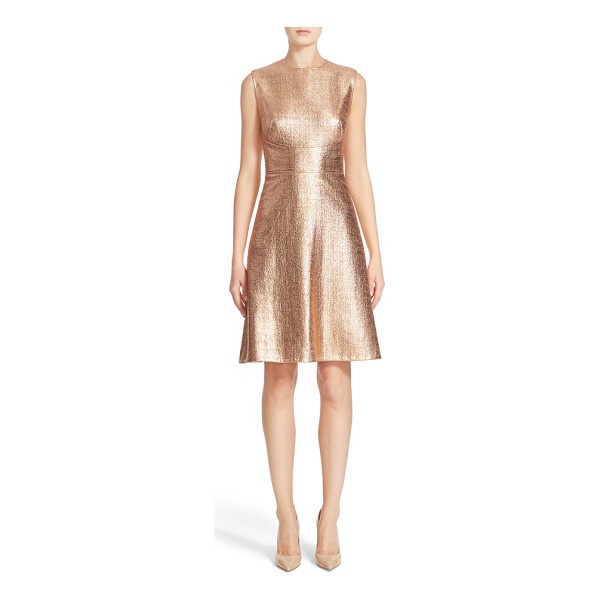 LELA ROSE coated metallic seamed a-line dress - Lela Rose's expert tailoring truly shines on this...