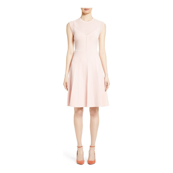 LELA ROSE knit fit & flare dress - Delicate pointelle stitching and scalloped edges further...