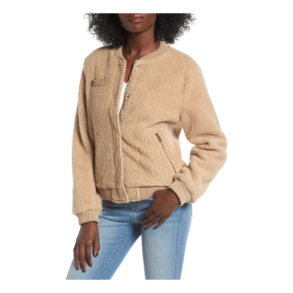 LEVI'S levi's faux shearling bomber jacket - A stalwart silhouette goes cozy, making this softly...