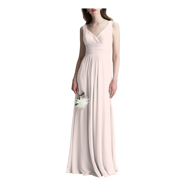 LEVKOFF # v-neck chiffon a-line gown - This dreamy chiffon gown is incredibly flattering from all...