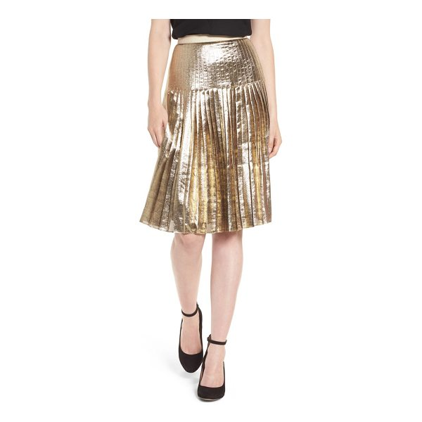 LEWIT pleated metallic skirt - The skirt to have this season is both ladylike and opulent...