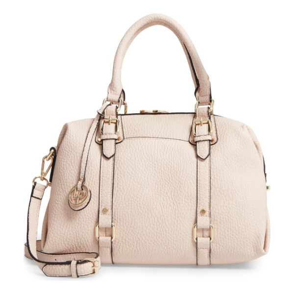 LINEA PELLE faux leather satchel - Contrast painted edges and gleaming hardware lend...