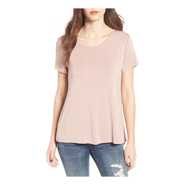 LIRA CLOTHING fate ruffle back top - A classic, supersoft tee gets a flirtatious update with a...