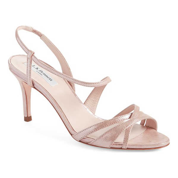L.K. BENNETT lourdes metallic leather sandal - Svelte straps curve around the foot in this stunning...