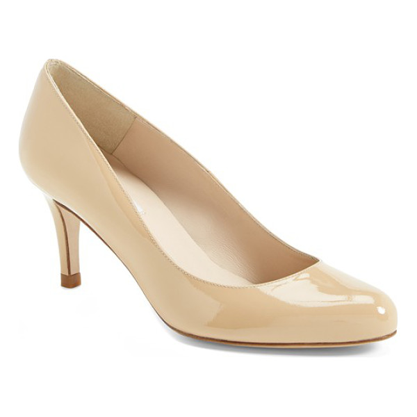L.K. BENNETT 'samira' pump - Pristine leather highlights the clean, classic lines of a