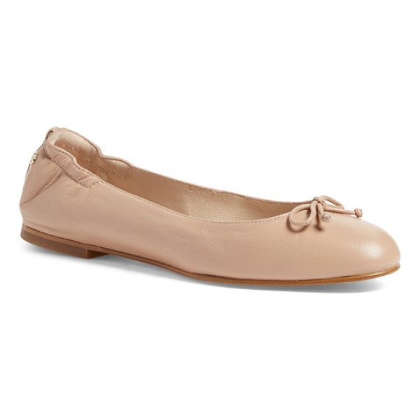 L.K. BENNETT 'thea' ballet flat - A delicate bow adorns the rounded toe of a charming ballet