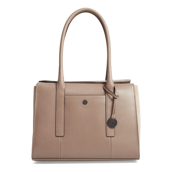 LODIS business chic paula rfid-protected coated leather & suede brief shoulder bag - Make your daily commute just a little easier and more...