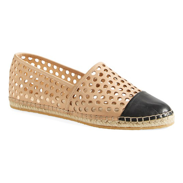 LOEFFLER RANDALL mara espadrille flat - Geometric perforations and a contrast cap toe give this...
