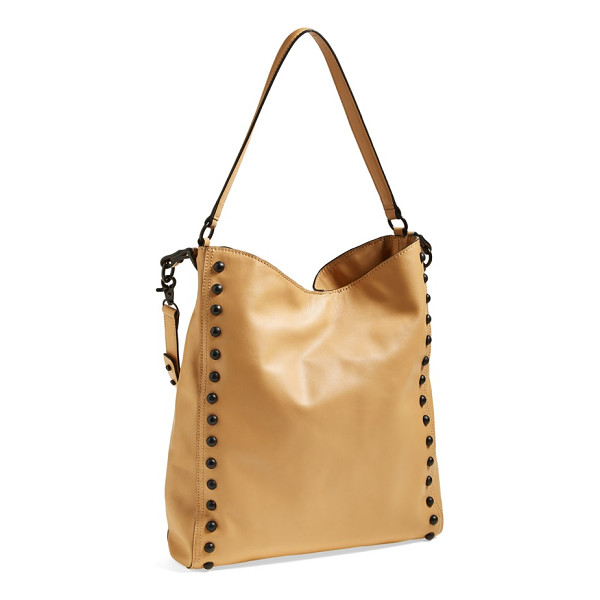 LOEFFLER RANDALL studded hobo - Polished, rounded studs accentuate the long lines of a...