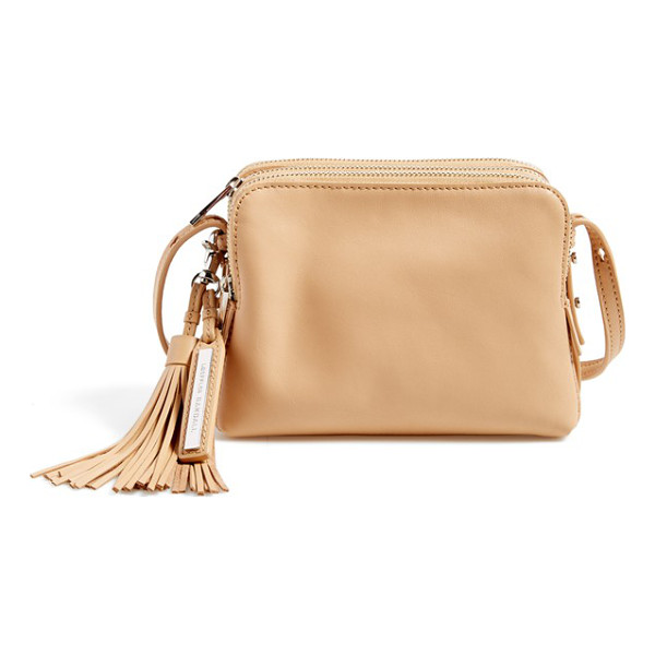 LOEFFLER RANDALL Triple zip leather crossbody bag - With its clean lines, sleek silhouette and polished,...