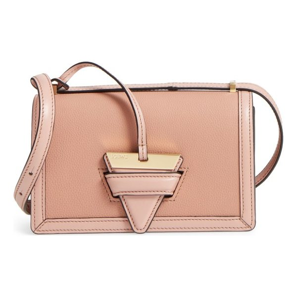 LOEWE small barcelona grainy leather crossbody bag - A distinctive triangular logo anchor secures the string-tab...