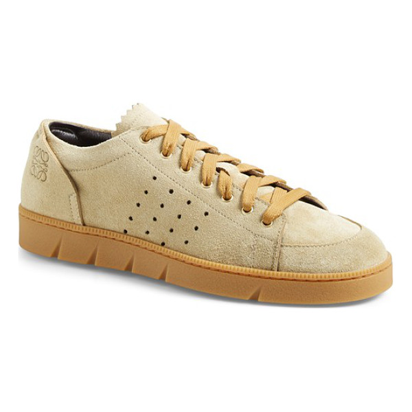 LOEWE sneaker - A classic sneaker silhouette is updated with perforated...