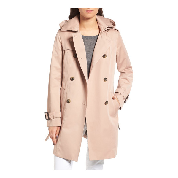 LONDON FOG heritage trench coat with detachable liner - Time-tested details enhance the weather protection and...