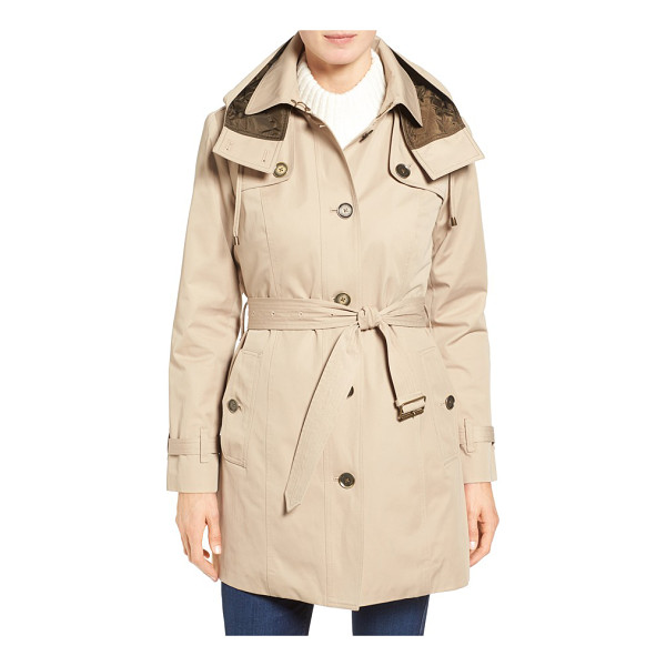 LONDON FOG single breasted trench coat - Classic trench styling gets a cozy update with a quilted...