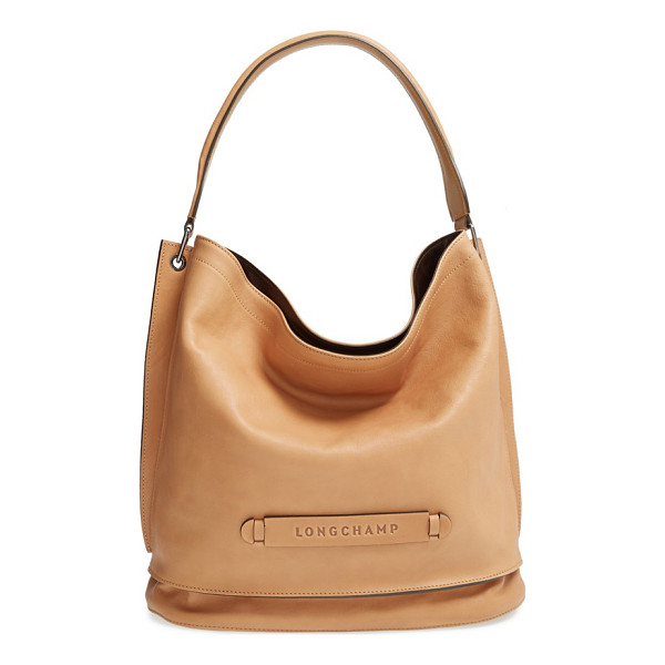 LONGCHAMP 3d leather hobo - A clean-lined hobo bag shaped from smooth, supple leather...