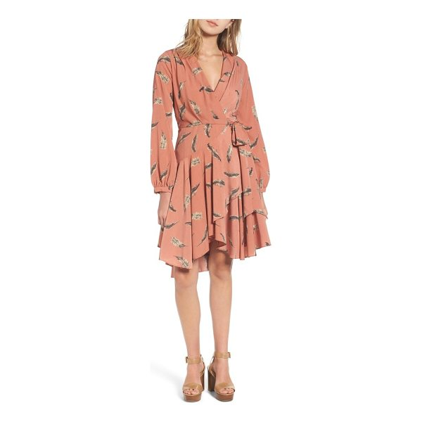 LOST AND WANDER lost + wander amber print wrap dress - A gathered bodice and artfully draped skirt add to the...