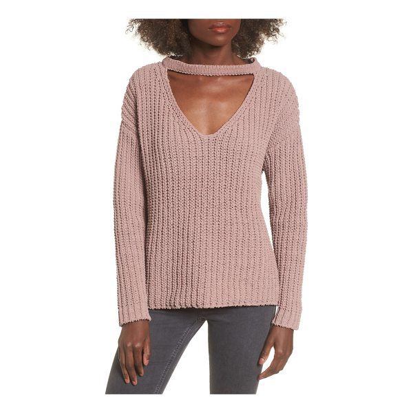 LOST AND WANDER mary lous choker sweater - A trend-right choker collar turns up the edge on this plush...