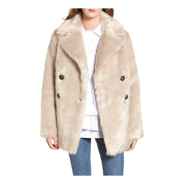 LOST INK faux fur coat - As soft as your favorite teddy bear, this double-breasted...
