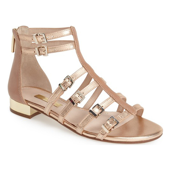 LOUISE ET CIE anja sandal - A gilt heel adds a flash of glamour to a strappy statement...