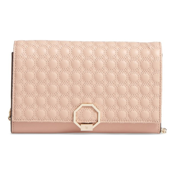 LOUISE ET CIE celya small crossbody bag - Geo-pattern quilting beautifully textures the flap of a