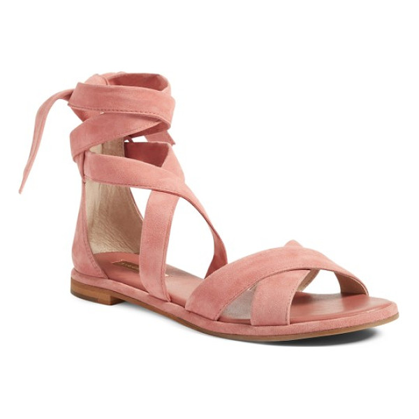LOUISE ET CIE clover sandal - Lush suede straps can be wrapped around your ankle or just...