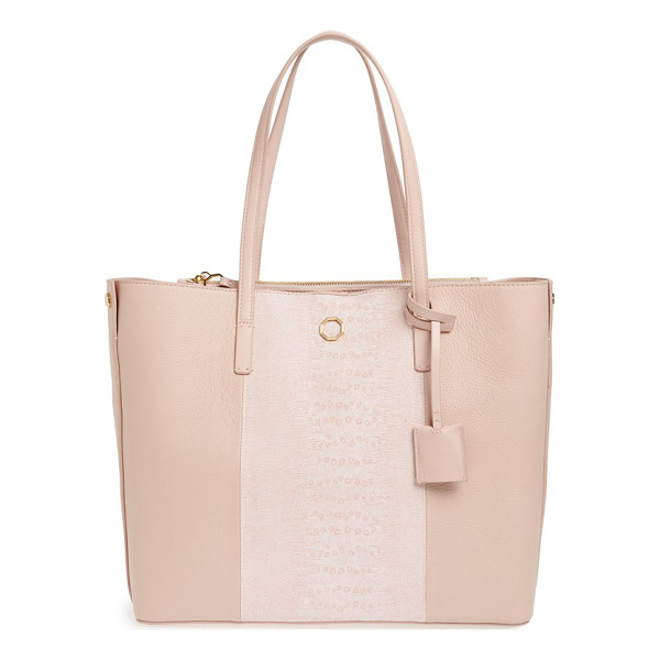 LOUISE ET CIE Elay leather shoulder tote - Slim over-the-shoulder handles top a roomy, lightly...