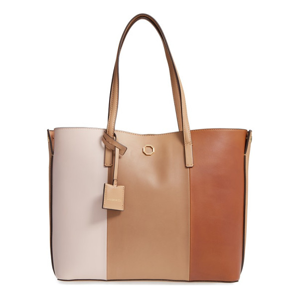 LOUISE ET CIE elay leather shoulder tote - Slim over-the-shoulder handles top a roomy, lightly