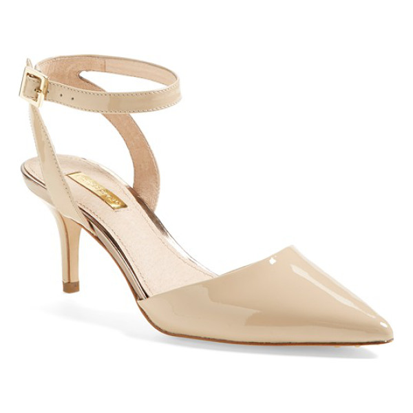 LOUISE ET CIE 'esperance' pump - A skinny ankle strap tops a lofty pump crafted with a...