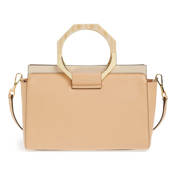 LOUISE ET CIE Fae leather satchel - Distinctive octagonal handles provide standout finesse to a...