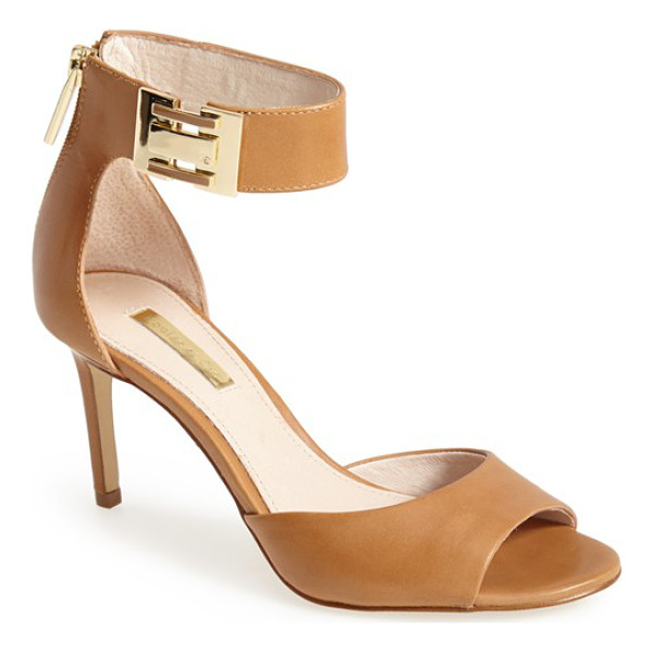 LOUISE ET CIE gordon leather sandal - Polished, minimalist hardware calls attention to the...