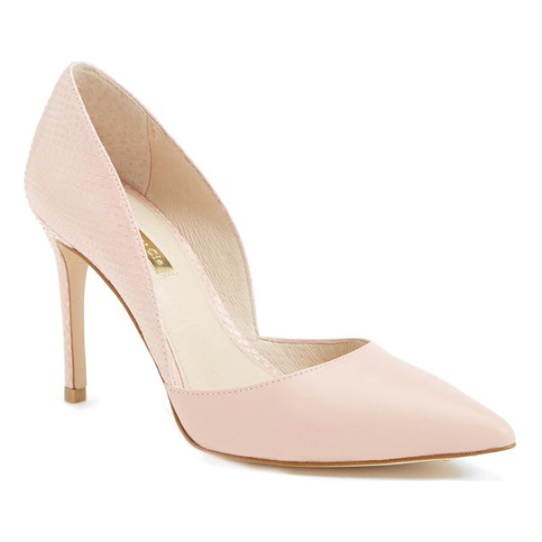LOUISE ET CIE hermosah pump - A sophisticated d'Orsay pump with contrasting textures is...