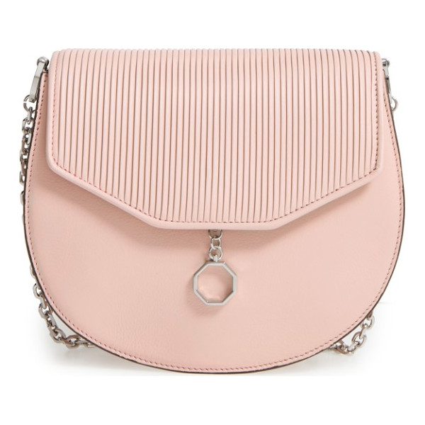 LOUISE ET CIE jael leather crossbody bag - Pebbled leather perfectly juxtaposes the smooth flap on a...