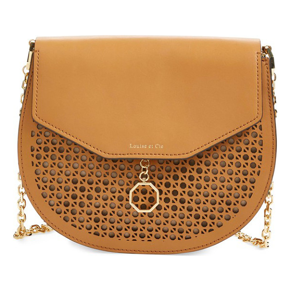 LOUISE ET CIE Jael leather & suede shoulder bag - Lush suede perfectly juxtaposes the exotically embossed...