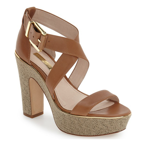 LOUISE ET CIE jazmin platform sandal - Buttery-soft suede extends the retro appeal of a chic...
