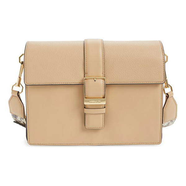 LOUISE ET CIE Lowe leather satchel - Smooth leather perfectly juxtaposes the exotically embossed...