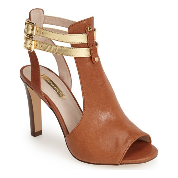 LOUISE ET CIE sebastian cutout leather sandal - Twinned contrast ankle straps secure a supple leather...