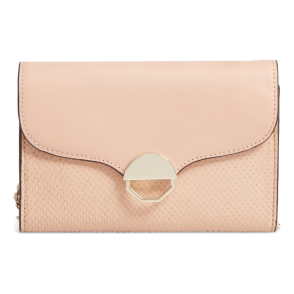 LOUISE ET CIE sonye small crossbody bag - Signature octagonal half-moon hardware balances the curvy...