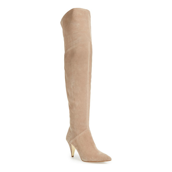 LOUISE ET CIE 'willess' over the knee boot - A stunning over-the-knee profile makes this suede-crafted...