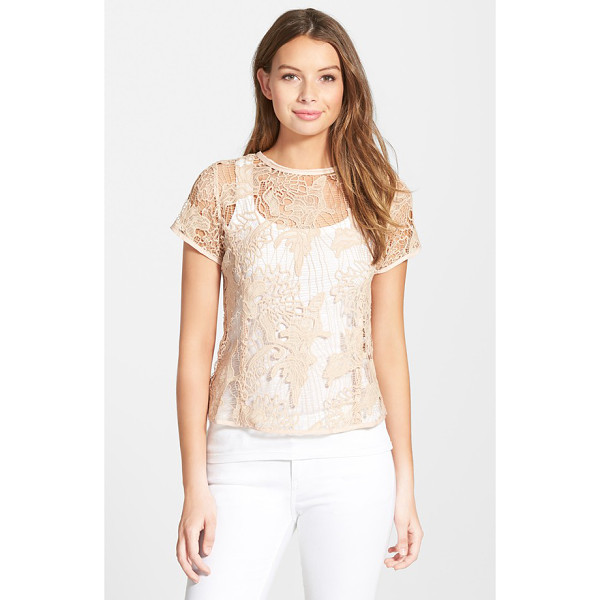 LOVE FATE DESTINY back zip lace top - Princess seams define the structured fit of a delicate lace...