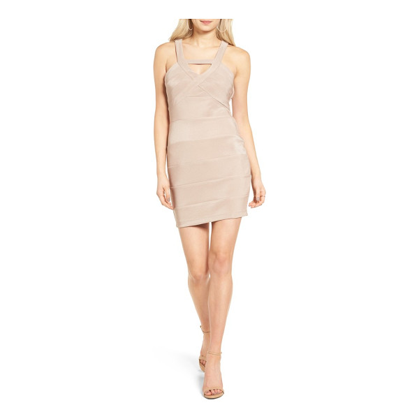 LOVE, NICKIE LEW love - This flirty body-con dress has a strappy neckline and...