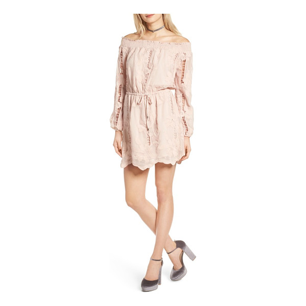LOVERS + FRIENDS kory off the shoulder minidress - Look pretty and polished in a shabby-chic minidress that's...