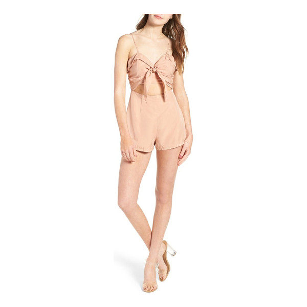 LOVERS + FRIENDS on the go romper - A pretty bow and neatly folded details are flirty in all...