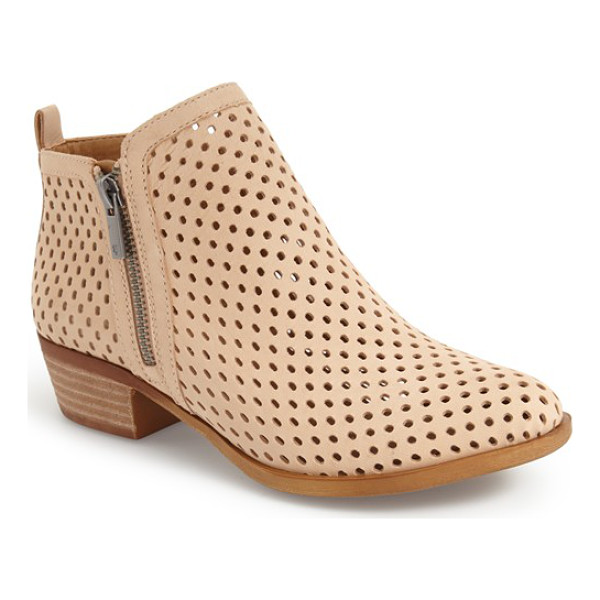 LUCKY BRAND 'basel' perforated bootie - A classic bootie goes modern with a perforated-leather...