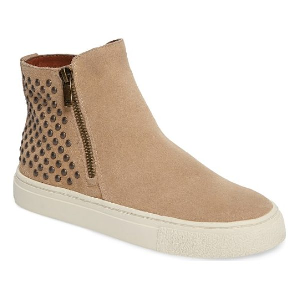 LUCKY BRAND bayleah high top sneaker - Dual side zips and polished metal studs lend instant street...