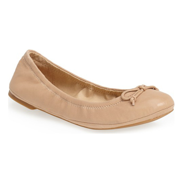 LUCKY BRAND eadda leather flat - A classic flat is shaped with an elasticized topline for a...