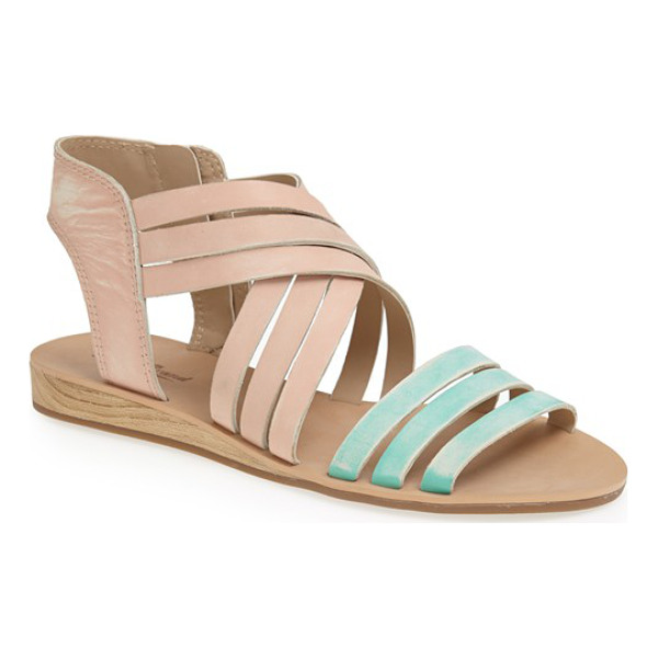 LUCKY BRAND jessicah sandal - A subtly worn finish and slim, wood-look wedge extend the...