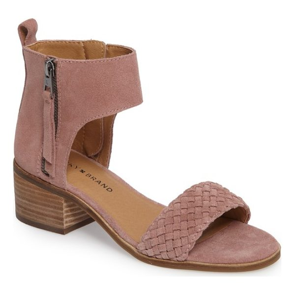 LUCKY BRAND nichele braided sandal - A braided toe strap balances the bootie-profile topline of...