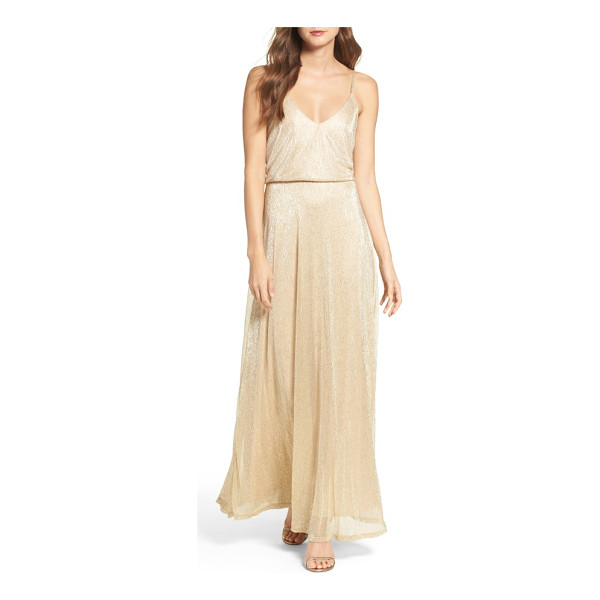 LULUS blouson shimmer gown - Go ahead, let down your hair and light up the evening in...